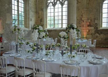 Bouquet blanc et eucalyptus